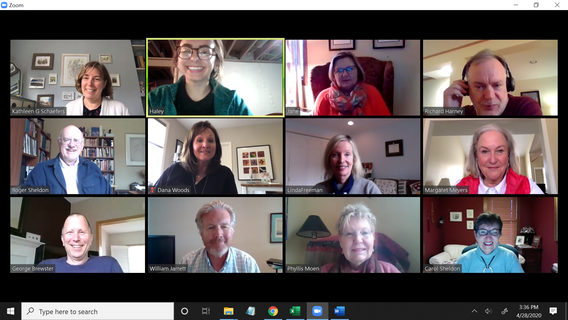 Screen shot of UMAC fellows using Zoom 4.2020